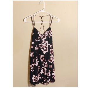 Express Floral Strappy Vacation or Summer Dress
